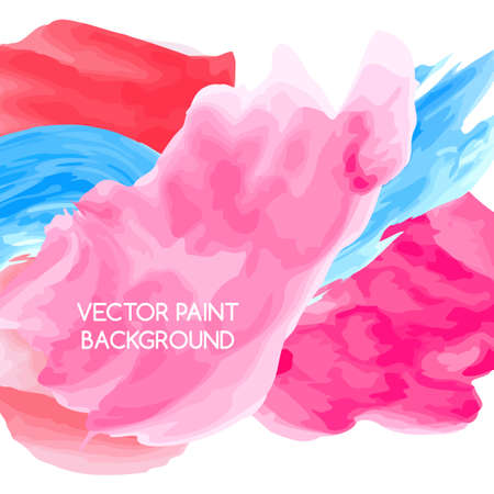 Abstract artistic background by watercolor paint splashes of bright colors