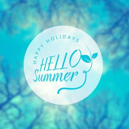 Hello summer. Vector summer background