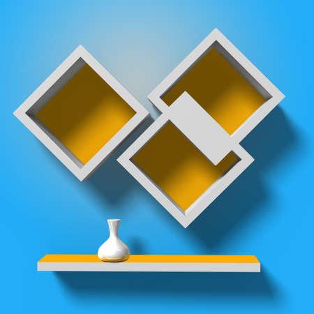 modern creative shelves template for your design