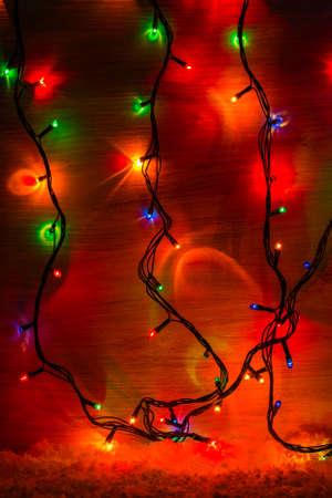 christmas colorful light background Stock Photo