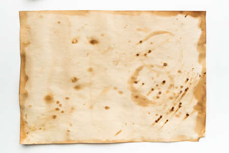 Aged vintage paper background template for graphic