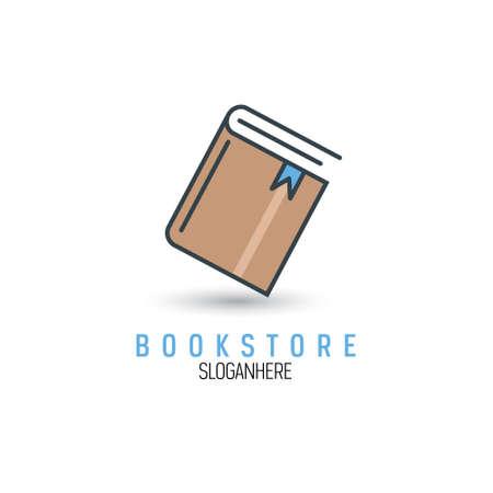 Book bookstore design vector template Illustration