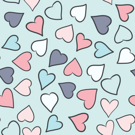 Valentines Day greeting card template. Illustration