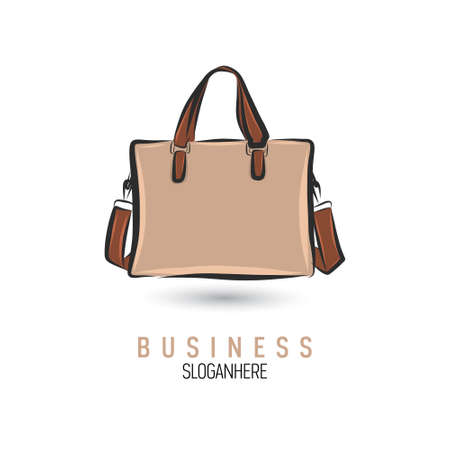 Hand-drawn bag icon template. Illustration