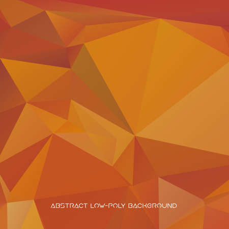 Vector abstract polygonal yellow background.