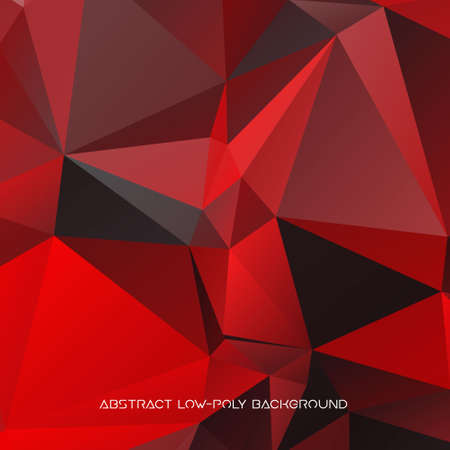 Vector abstract polygonal red and black background.