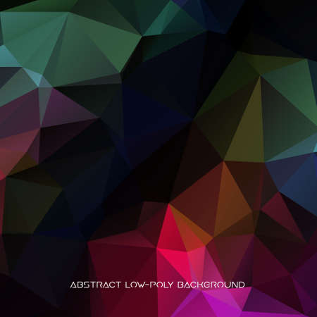 Vector abstract polygonal blue background.