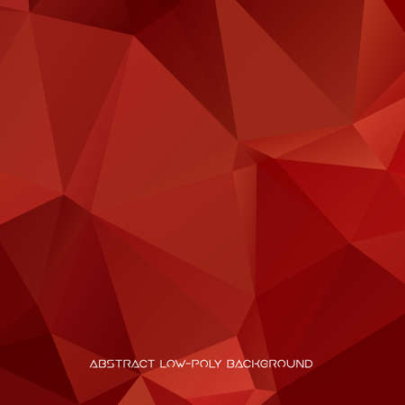 Vector abstract polygonal red background. Illustration