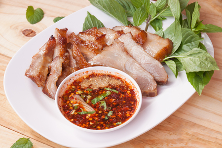 Pork roast and dipping sauce