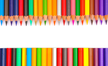 orange color: Pencil colors Stock Photo