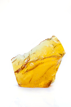 obtained: Rubber wood resin obtained from trees. Stock Photo