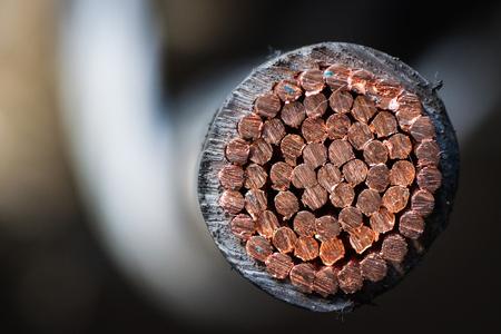 conductors: Copper, cables, insulators, conductors. Stock Photo
