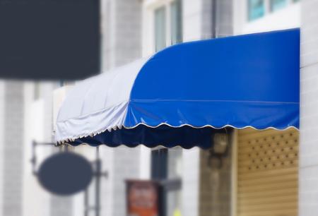 Awning, awning made of canvas, rainproof Фото со стока