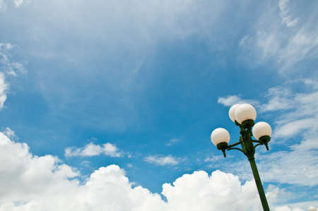 lamp and sky photo