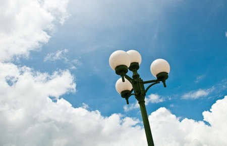 sky and lamp photo