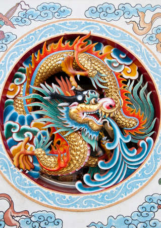 dragon on the wall in China  photo