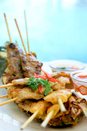 person appetizer: Grilled mixed satay - 1