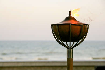 Fire of torch in the sun set view Stock Photo - 11768439