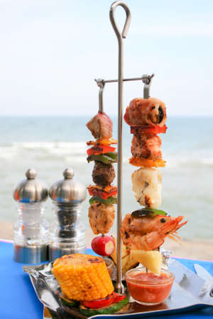 meats: Meats and Seafood Skewer