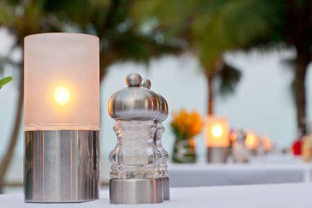 banqueting: Romance Candle Light Centerpiece