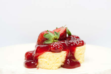 two piece: Strawberry cheese cake