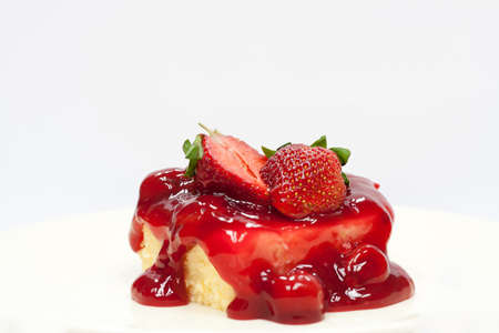 two and a half: Two Half fresh strawberries on cheesecake
