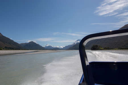 exhilarating: An exhilarating jet-boat ride on the River Dart, New Zealand