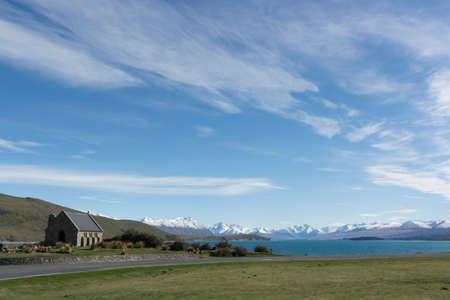 good shepherd: The Church of The Good Shepherd on Lake Tekapo, New Zealand, South Island