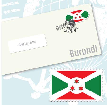 Burundi country flag stamp and envelope design Stock Vector - 8709548