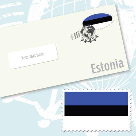 エストニア国旗切手・封筒デザイン