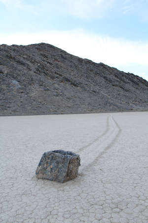 Moving rock in death Valley