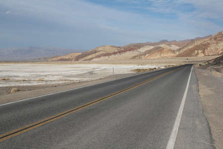 Roadway in Death Valley