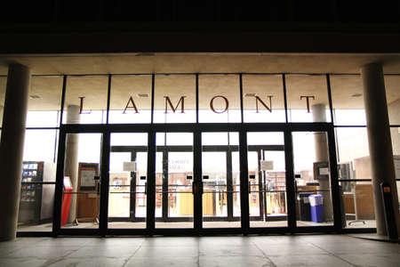 harvard university: Lamont library in Harvard University, Boston Editorial
