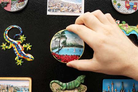 nevera: Un nuevo imán del refrigerador de las últimas vacaciones
