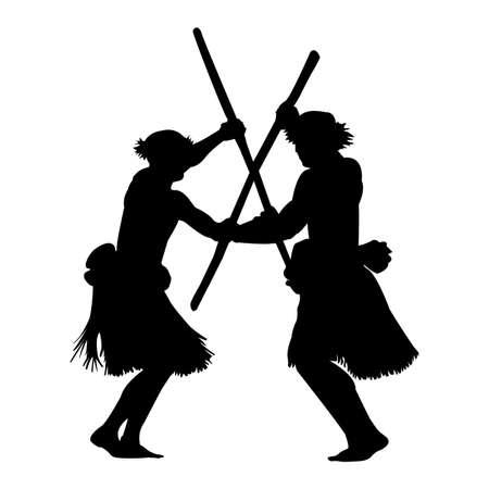 Polynesian warrior dance 向量圖像
