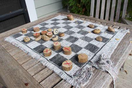 checkers: Handmade checkers