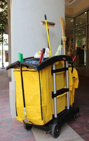 Multifunctional cleaning trolley cart (housekeeping cart set)
