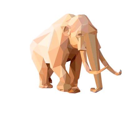 Low illustration de style de polygone d'un mammouth