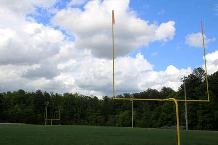 uprights: High School American football field