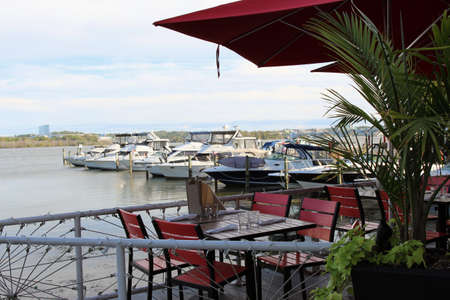 A waterfront restaurant with a view of the Potomac River, Old Town Alexandria VA