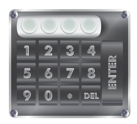 numerical: Numerical digital security lock