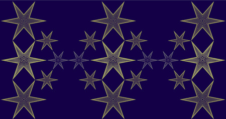 Christmas background with stars pattern Vector