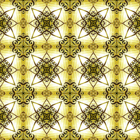entwined: Seamless pattern with entwined stars Stock Photo