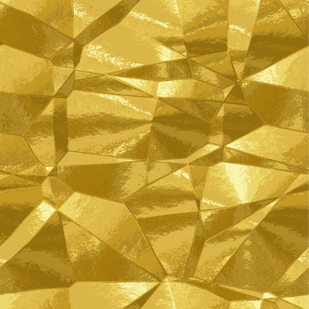Abstract background gold texture resembling metal foil Vector