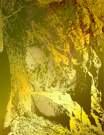 resembling: Abstract gold and green background resembling rock structure
