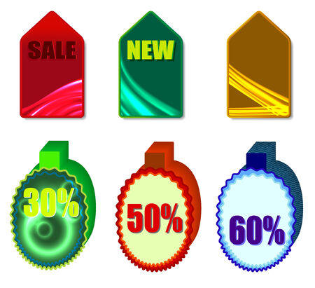 holographic: Discount colorful labels with holographic effect