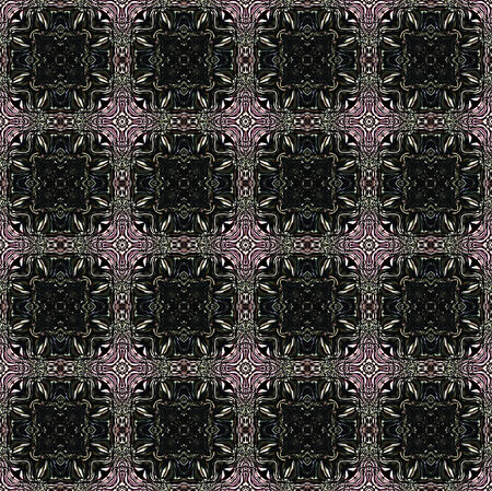 kaleidoscop: Abstract seamless pattern with black mosaic