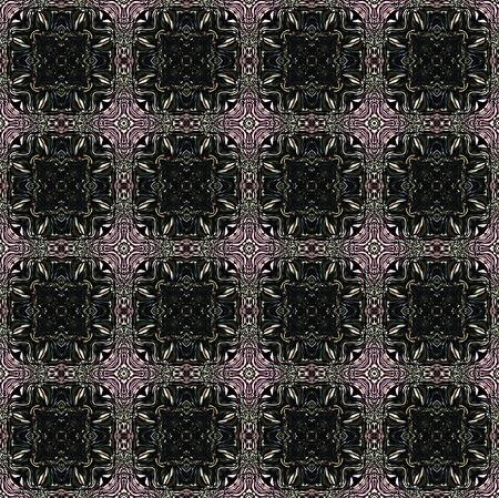 kaleidoscop: Abstract seamless pattern with black mosaic