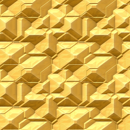 Abstract seamless pattern of gold metal photo
