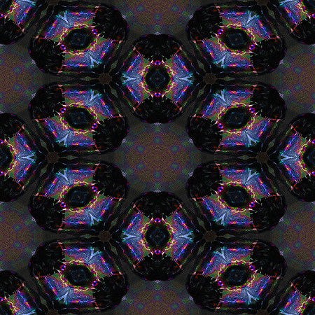reminiscent: Abstract kaleidoscopic mosaic of glass shards reminiscent of stained glass Stock Photo